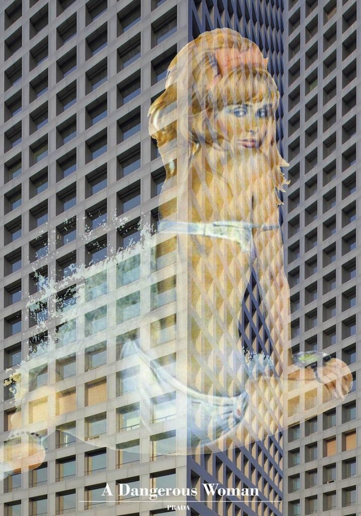 prada at galeries lafayettes 2017 - a dangerous woman poster