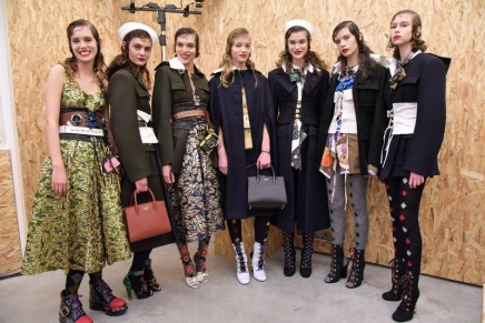 Prada thinks differently at Milan fashion week with commentary on glamour