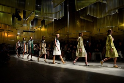 Prada calls up memories of other times and dresses at Milan fashion week