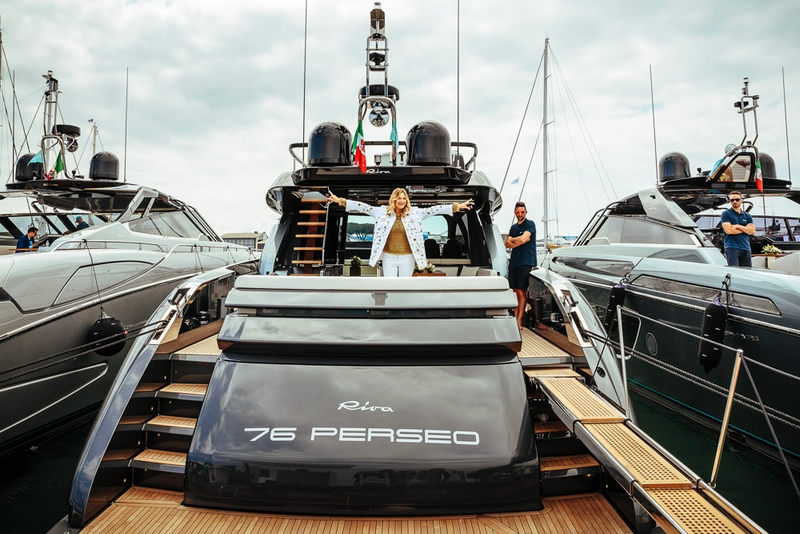 riva yachts at versilia yachting rendez-vous 2017 - first day of the luxury yachting show Italy -