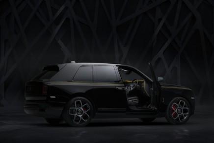 A sneak peak at the latest member of Rolls-Royce's Black Badge permanent Bespoke Family