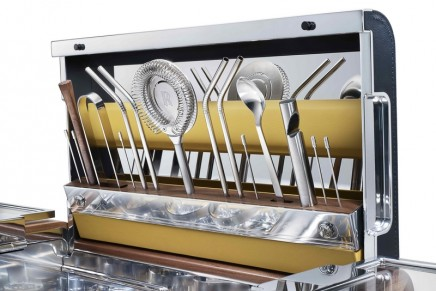 Enjoy something a little beyond the traditional glass of Champagne: Rolls-Royce limited edition Cocktail Hamper
