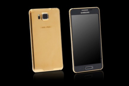 Goldgenie's foray into Samsung smartphones. 24ct Gold embellished Samsung Galaxy Alpha