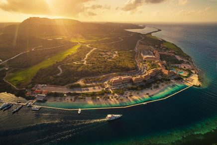 This is the future home to the luxurious new Sandals Curaçao