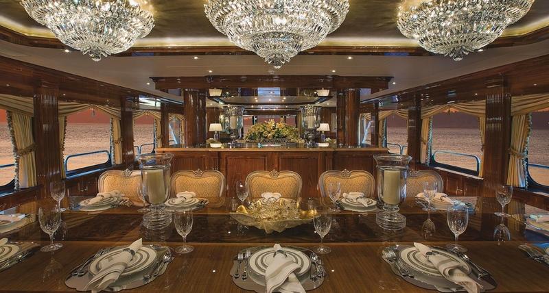 silver lining yacht -interior