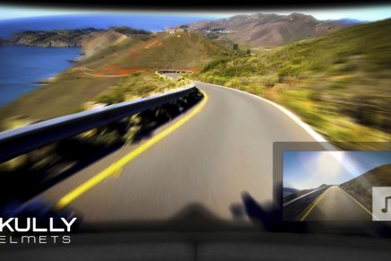 The Skully AR-1 smart crash helmet – the first augmented reality motorcycle helmet