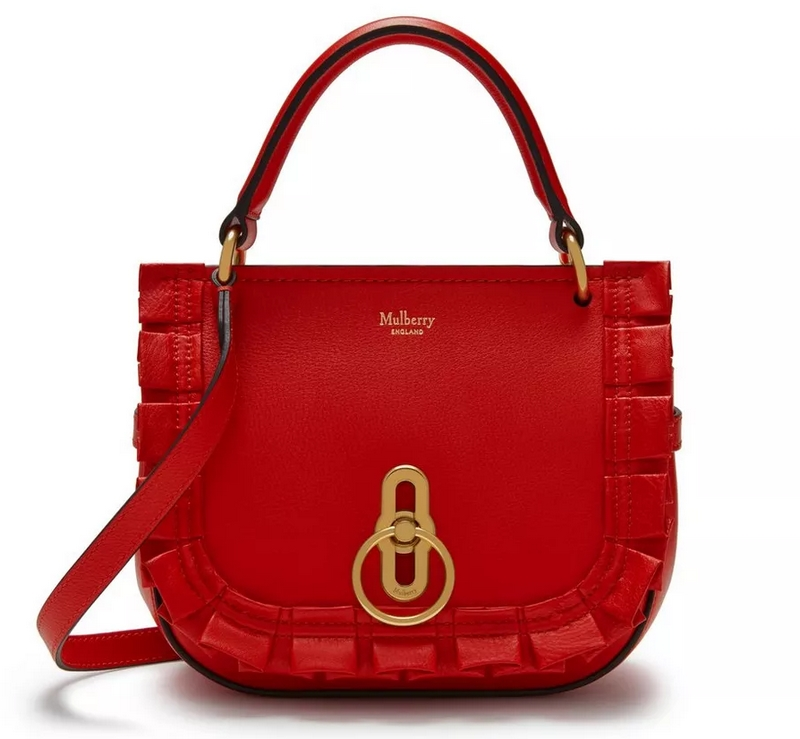 small amberley satchel red