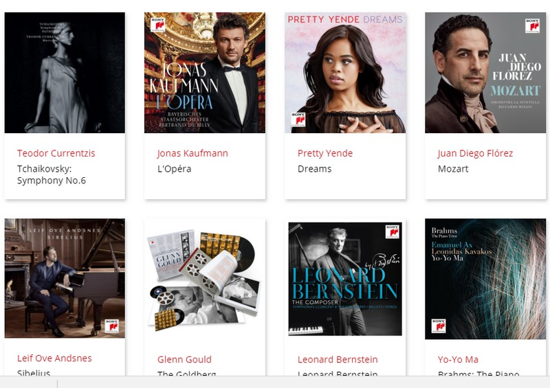 sonyclassical recent releases