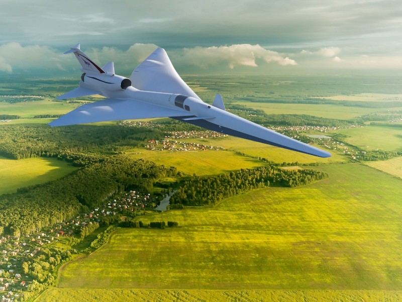supersonic X-59 QueSST aircraft by NASA