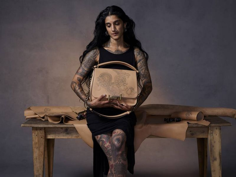 tattoo artist Saira Hunjan for Tods 2017collection