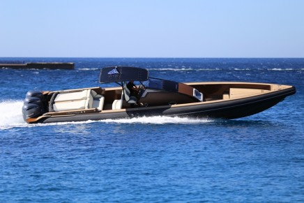 This performance luxury mega RIB is an ideal super-yacht tender and chase-boat