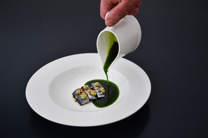 terrarestaurant - mackerel , coffee and parsley oil