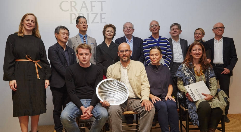 the first Loewe Craft Prize awarded to Ernst Gamperl of Germany
