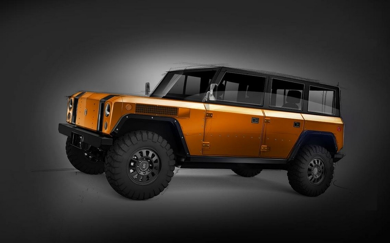 the first image of the 4-door B1 all-electric sport utility truck