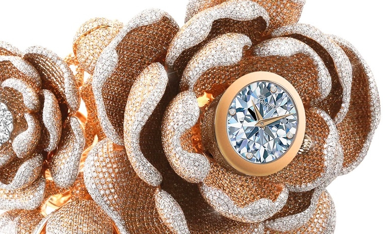 the most diamonds set on a watch record - The Mudan watch for Baselworld 2019-