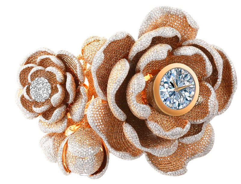 the most diamonds set on a watch record - The Mudan watch for Baselworld 2019-01