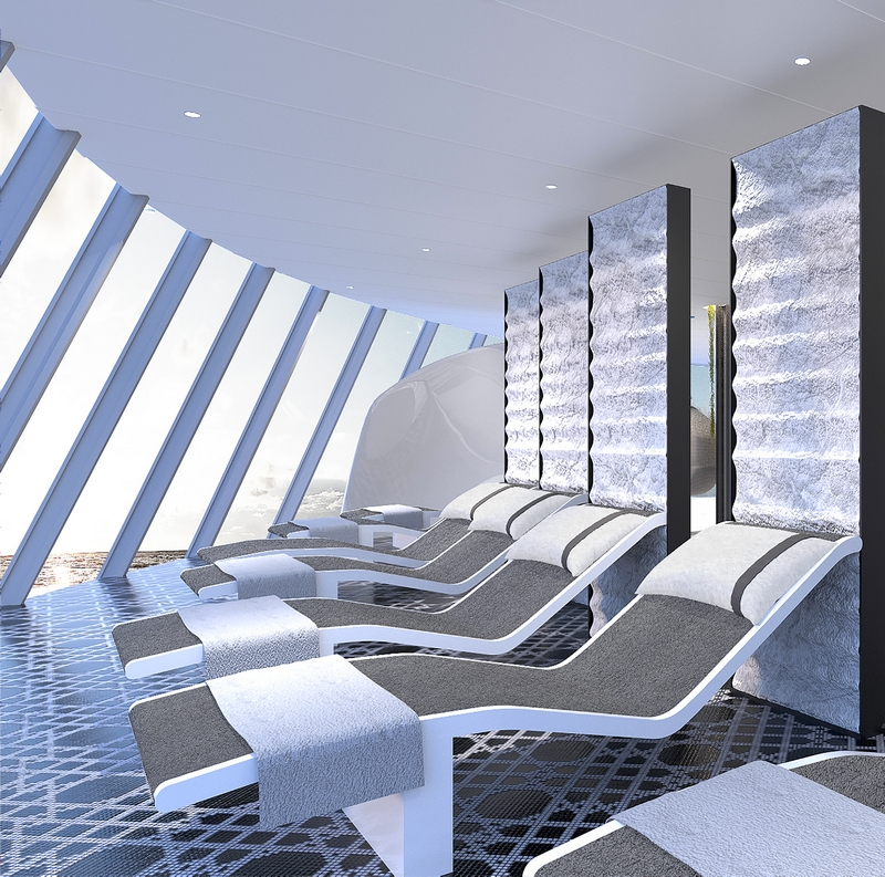 the perfect zen zone to relax after treatments at The Spa on Celebrity Edge