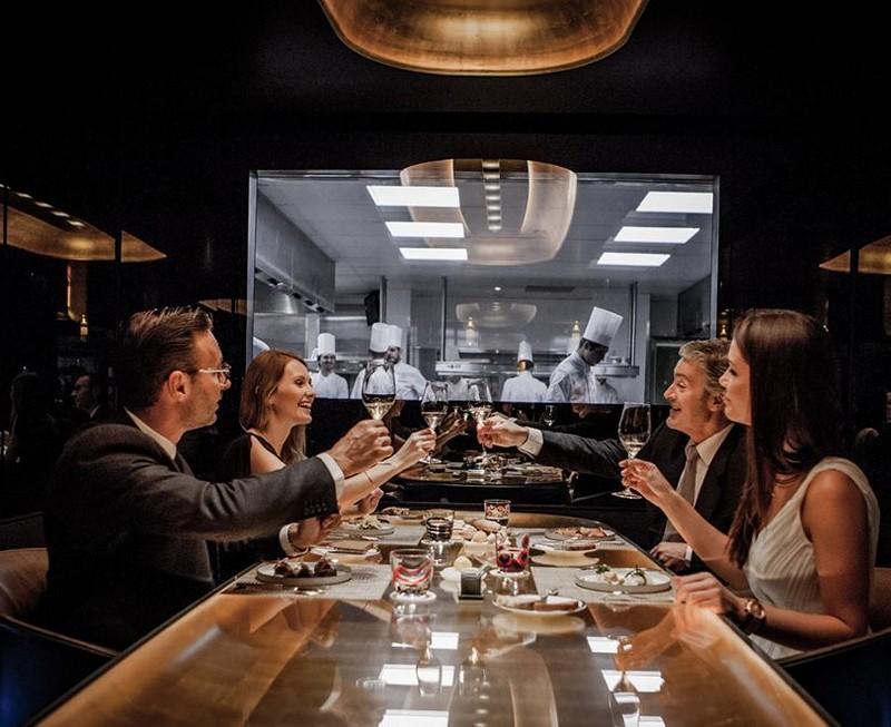 the restaurant le Meurice Alain Ducasse