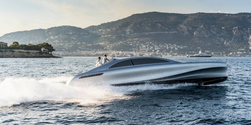 the sleek silver machine designed by Mercedes-Benz Style