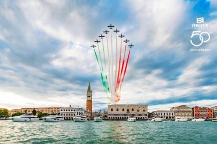 Exhilaration meets Italian style: Ferretti Yachts 50th anniversary seduced Venice