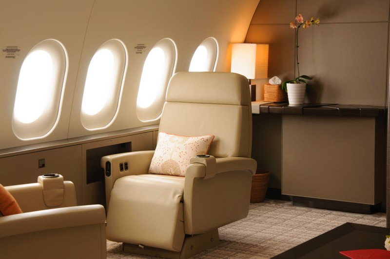 the world's first 787 Dream Jet - interior
