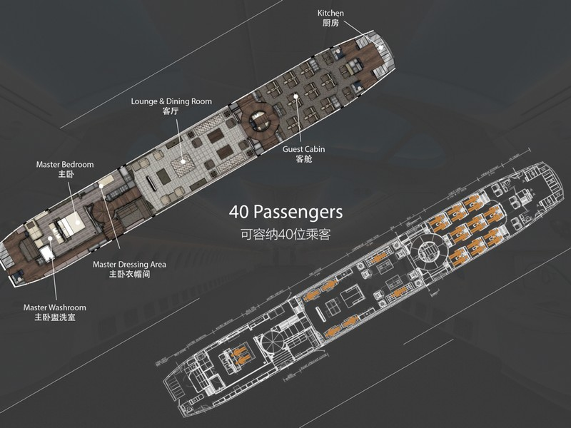 the world's first 787 Dream Jet - interiors plans
