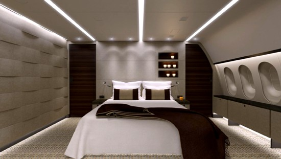 the world's first 787 Dream Jet - interiors sleeping spaces