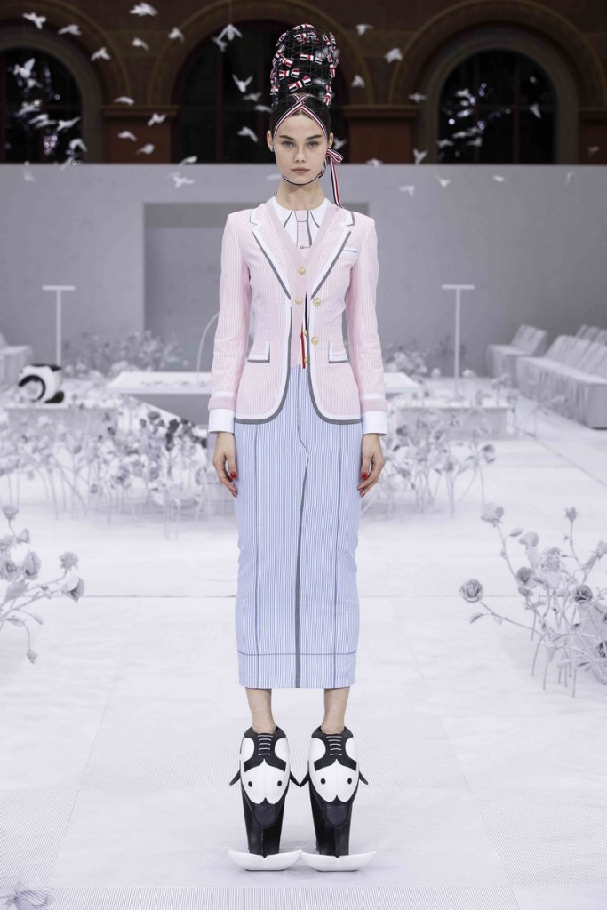 thom browne WOMENS SS20 RUNWAY - LOOK 1