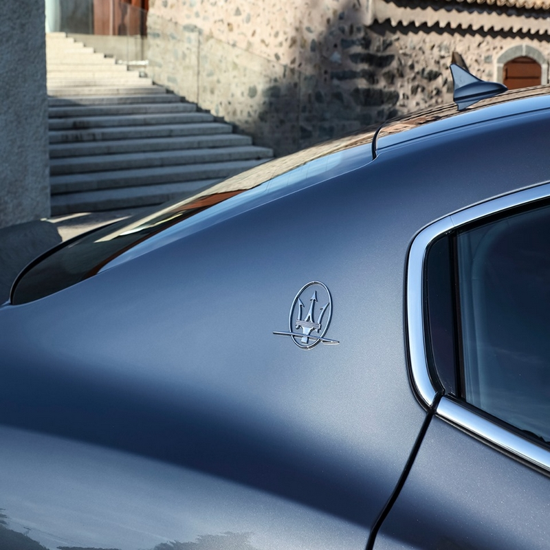 timeless Saetta logo adorning the Maserati Ghibli's C-pillar, instantly tells a story of dedication, passion and ambition