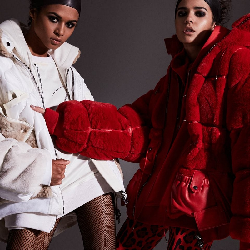 tom ford women Pre-Autumn Winter 2018 - bold, oversized faux fur bomber jackets