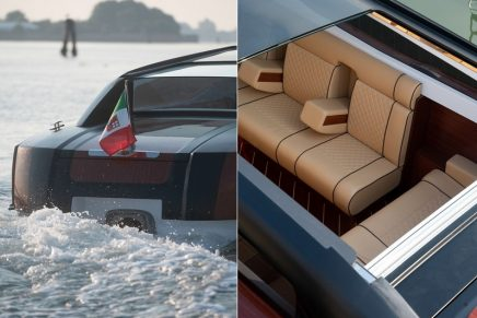 Thunder Venetian Taxi – a pioneering luxury Venetian water taxi using green technology