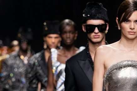 Versace steers its trademark glamour beyond gender