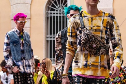 Donatella Versace pays homage to the Prodigy's Keith Flint in Milan