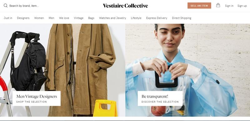 vestiaire collective printscreen October 2019