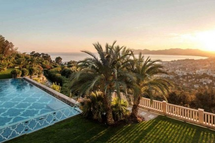This eight-bedroom mansion is the most expensive property on the Côte d'Azur