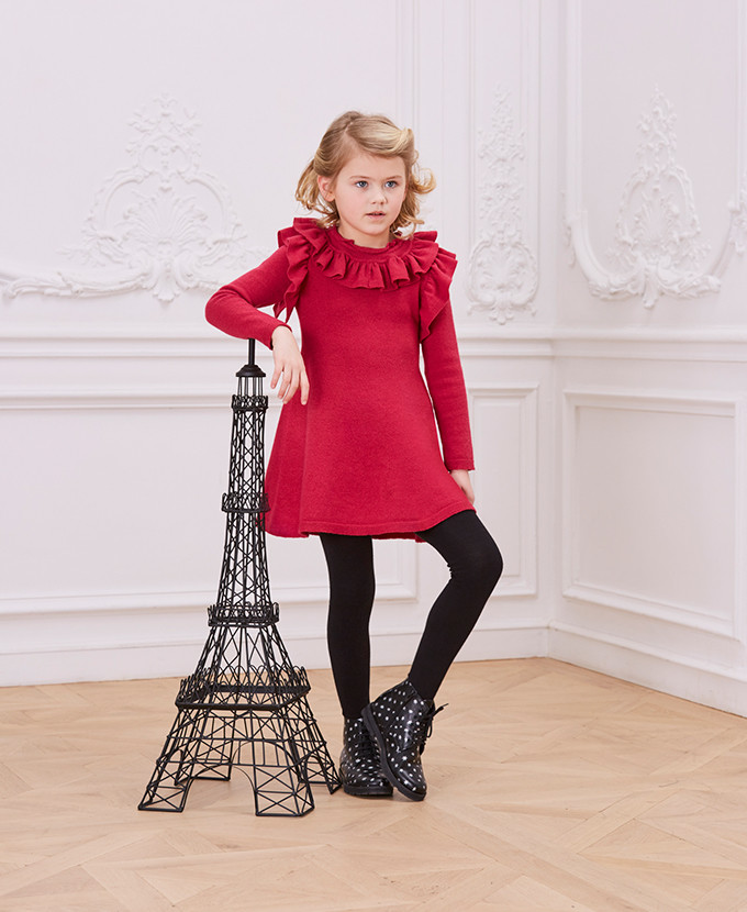 winter-2017-collection_long sleeved tricot knit dress