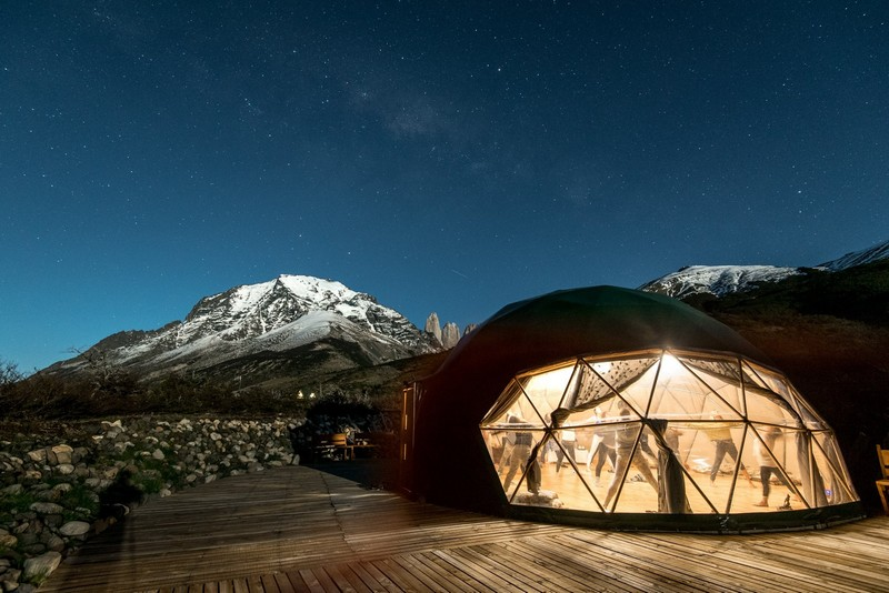 yoga dome by night