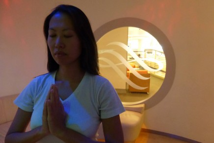 Perfect pre-flight relaxation: pop-up yoga studio at Heathrow lounge