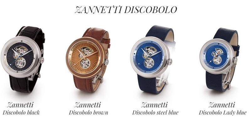 zannetti at 2017 Baselworld - Zannetti Discobolo watch collection